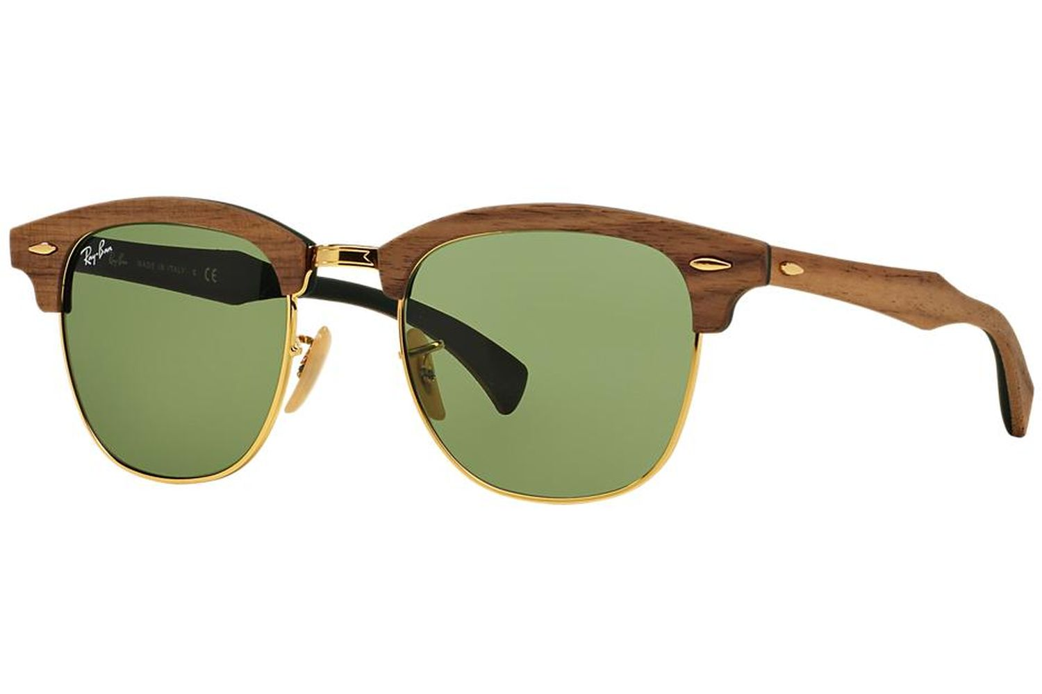 ef2c6ccd64d29 Ray-Ban RB3016M-11824E Clubmaster Wood Sunglasses