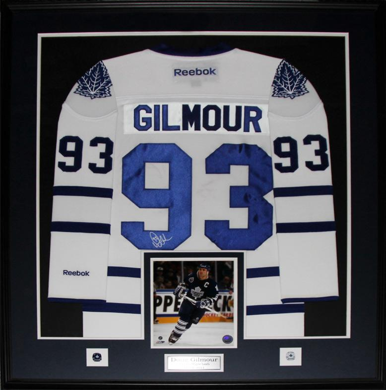 size 40 17362 77ff9 Details about Doug Gilmour Toronto Maple Leafs Signed white jersey NHL  Hockey Collector Frame