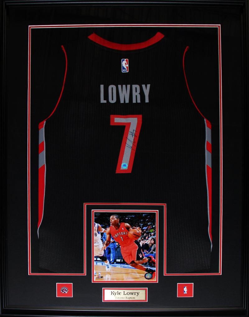 finest selection fad58 d2519 Details about Kyle Lowry Toronto Raptors Signed jersey NBA Basketball  Collector Frame