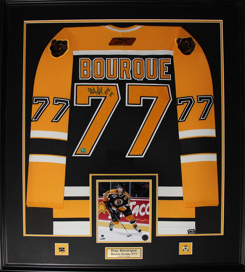 buy popular ac294 202d4 Details about Ray Bourque Boston Bruins Signed jersey NHL Hockey  Memorabilia Collector Frame